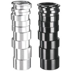 """Podkładki steru ALU 20 mm 1 1/8"""" czarna"""