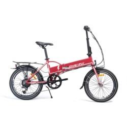 """Rower elektryczny Overfly Zing 20"""" czerwony"""
